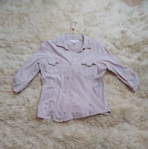 French Laundry button down cotton blouse